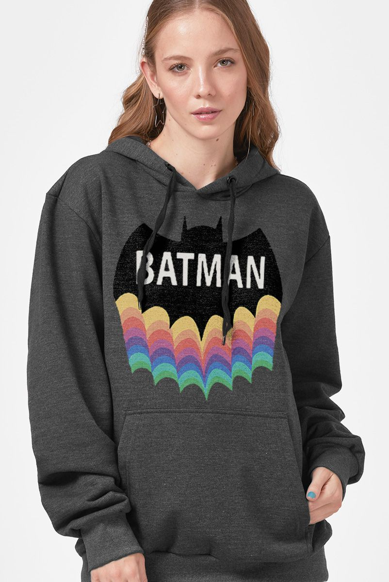 Moletom Feminino Batman Rainbow