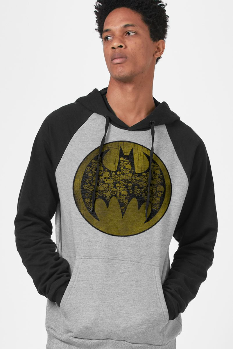 Moletom Raglan Batman Skull Bat