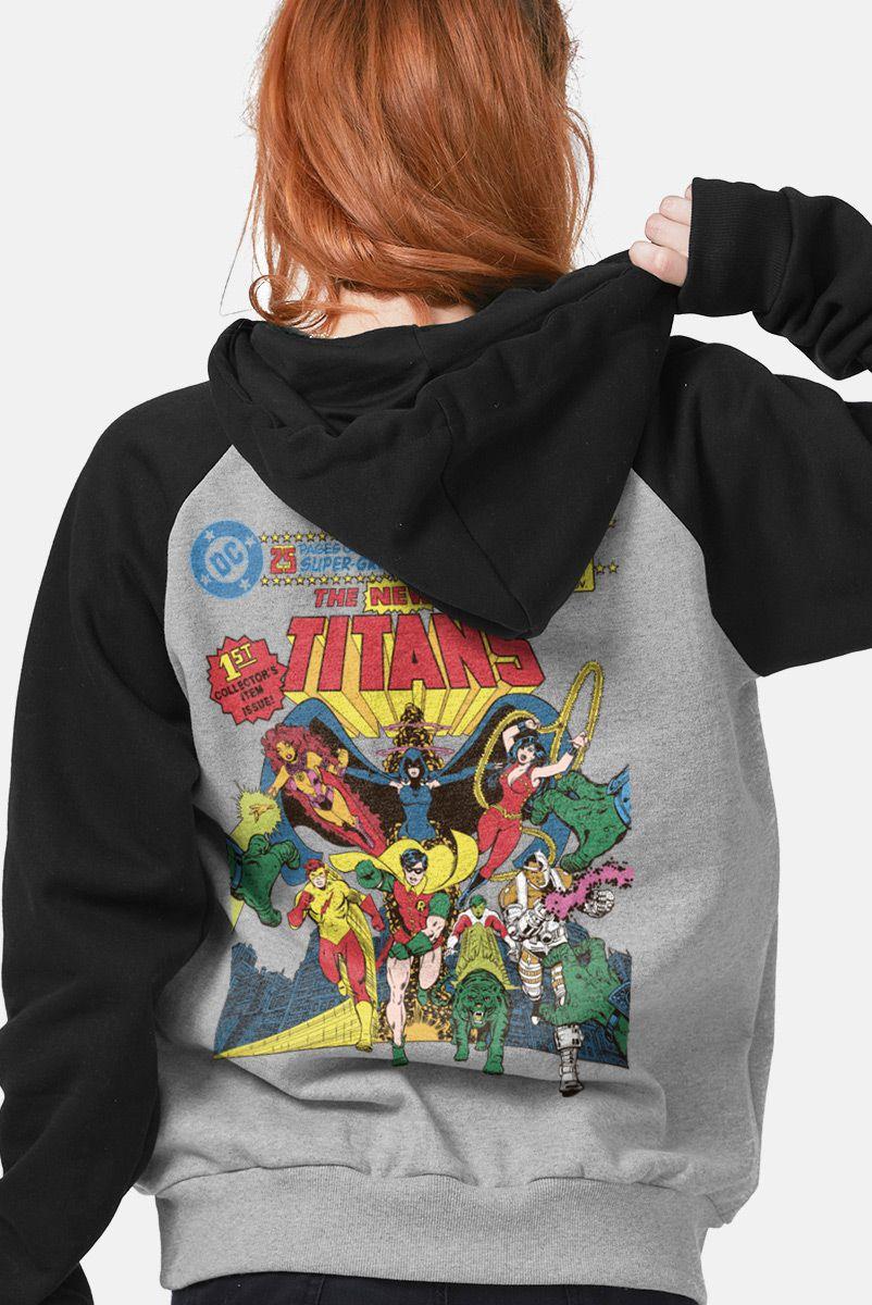 Moletom Raglan Feminino The Teen Titans