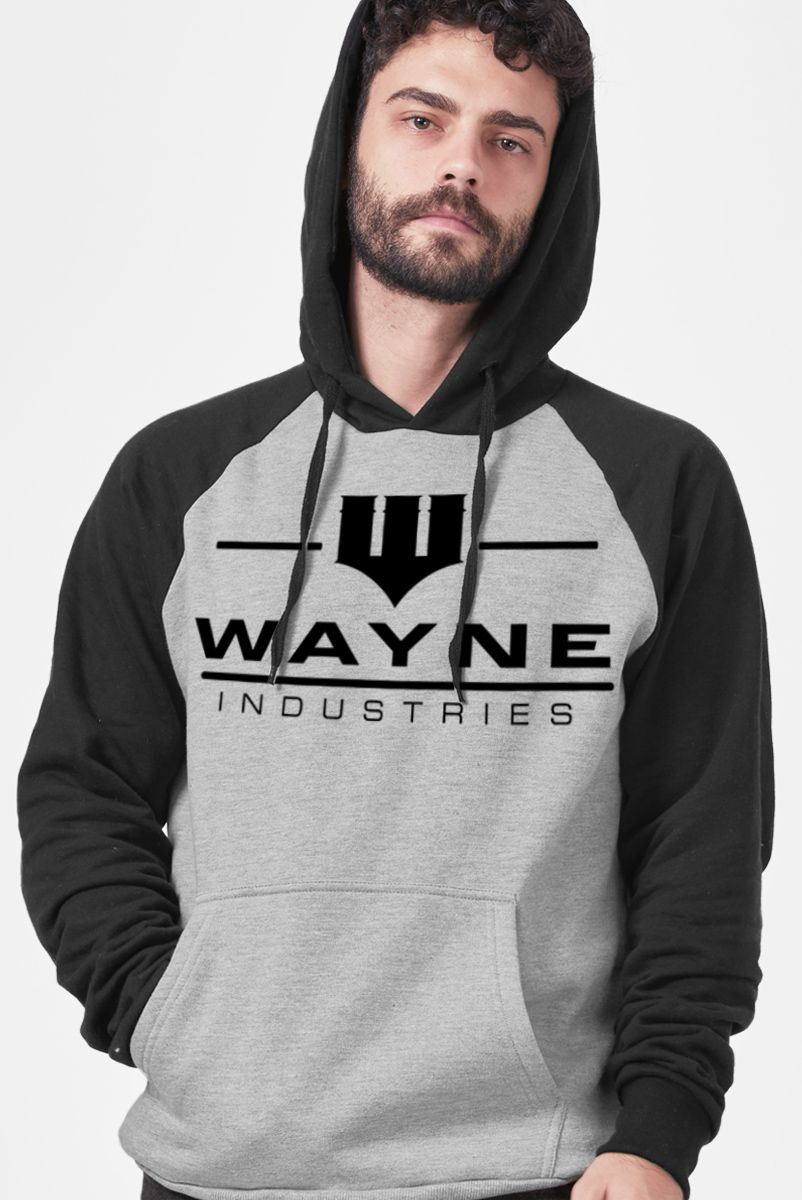 Moletom Raglan Wayne Industries