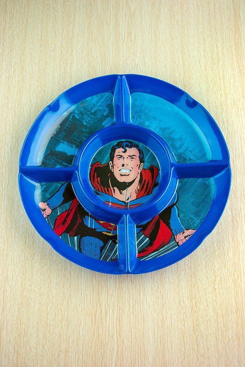 Petisqueira Redonda Superman Flying
