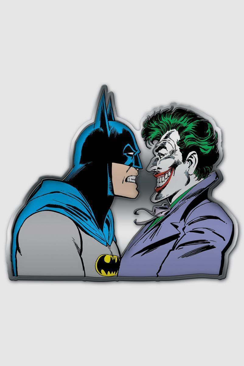 Placa Decorativa de Metal Batman e Coringa