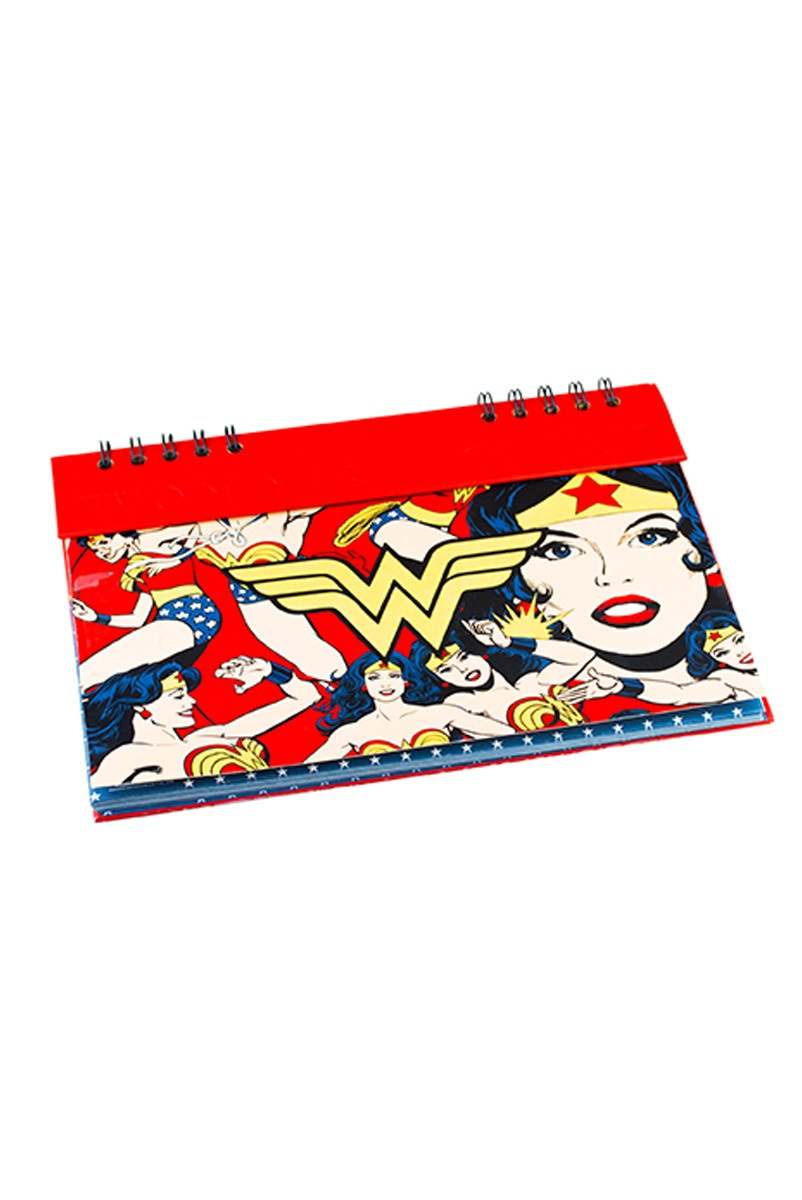 Planner Anual Mulher Maravilha Core Gold Logo