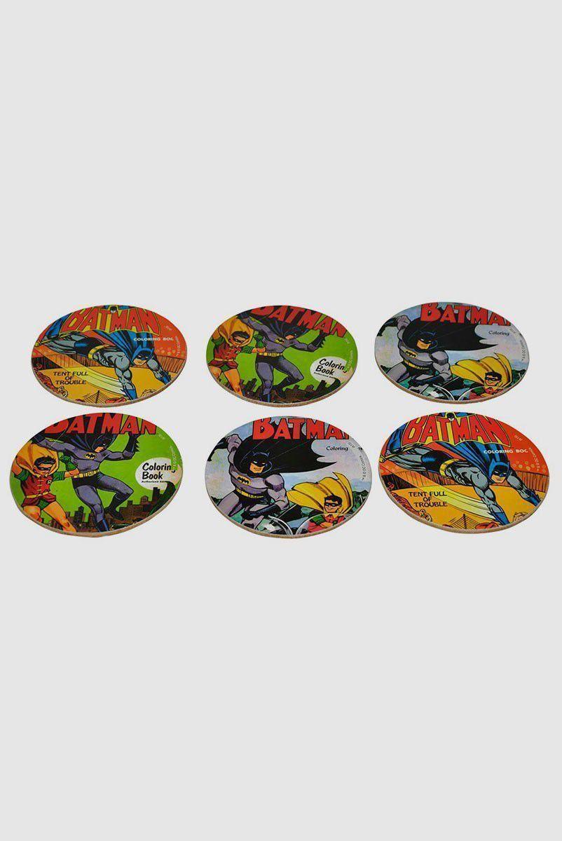 Porta Copos Batman e Robin