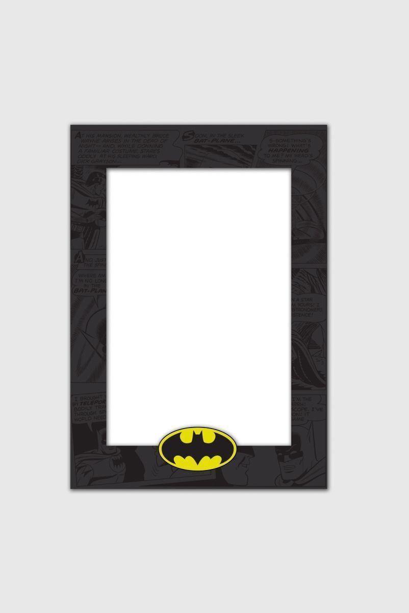 Porta-Retrato de Madeira Batman Logo