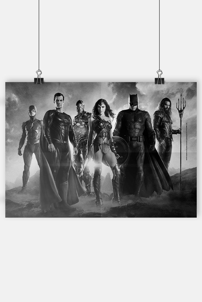 Pôster Liga da Justiça Snyder Cut - Heróis