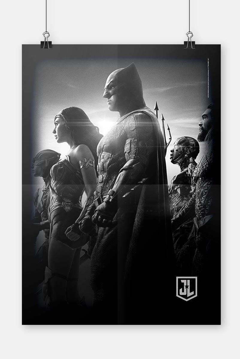 Pôster Liga da Justiça Snyder Cut - Heróis Perfil