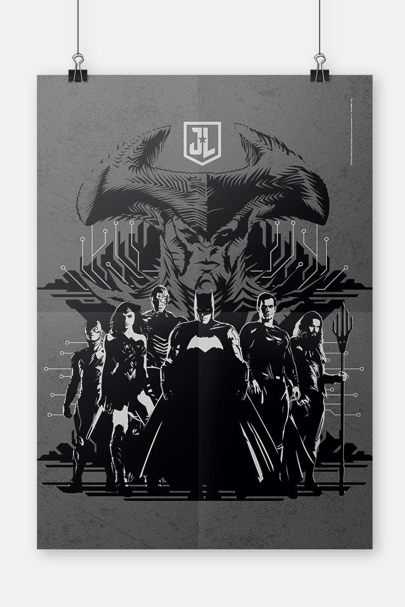 Pôster Liga da Justiça Snyder Cut - Steppenwolf vs Liga