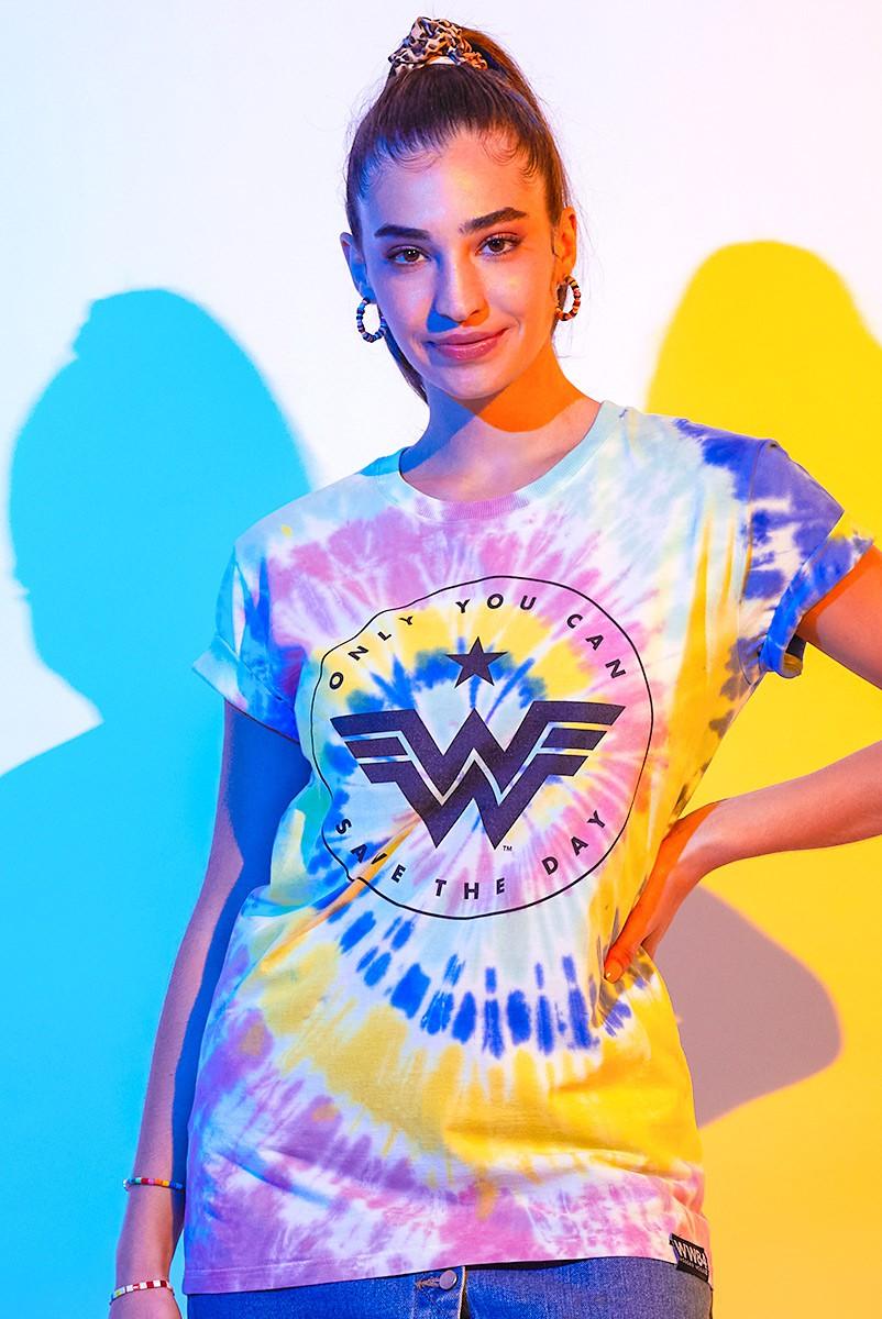 T-shirt Feminina Mulher Maravilha 1984 Logo Oficial