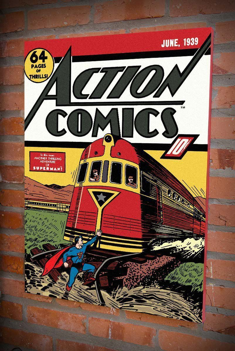 Quadro Tela Superman Action Comics