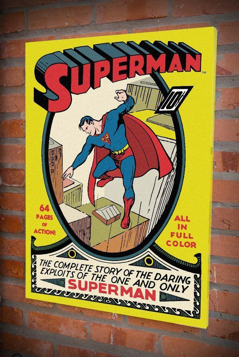 Quadro Tela Superman HQ