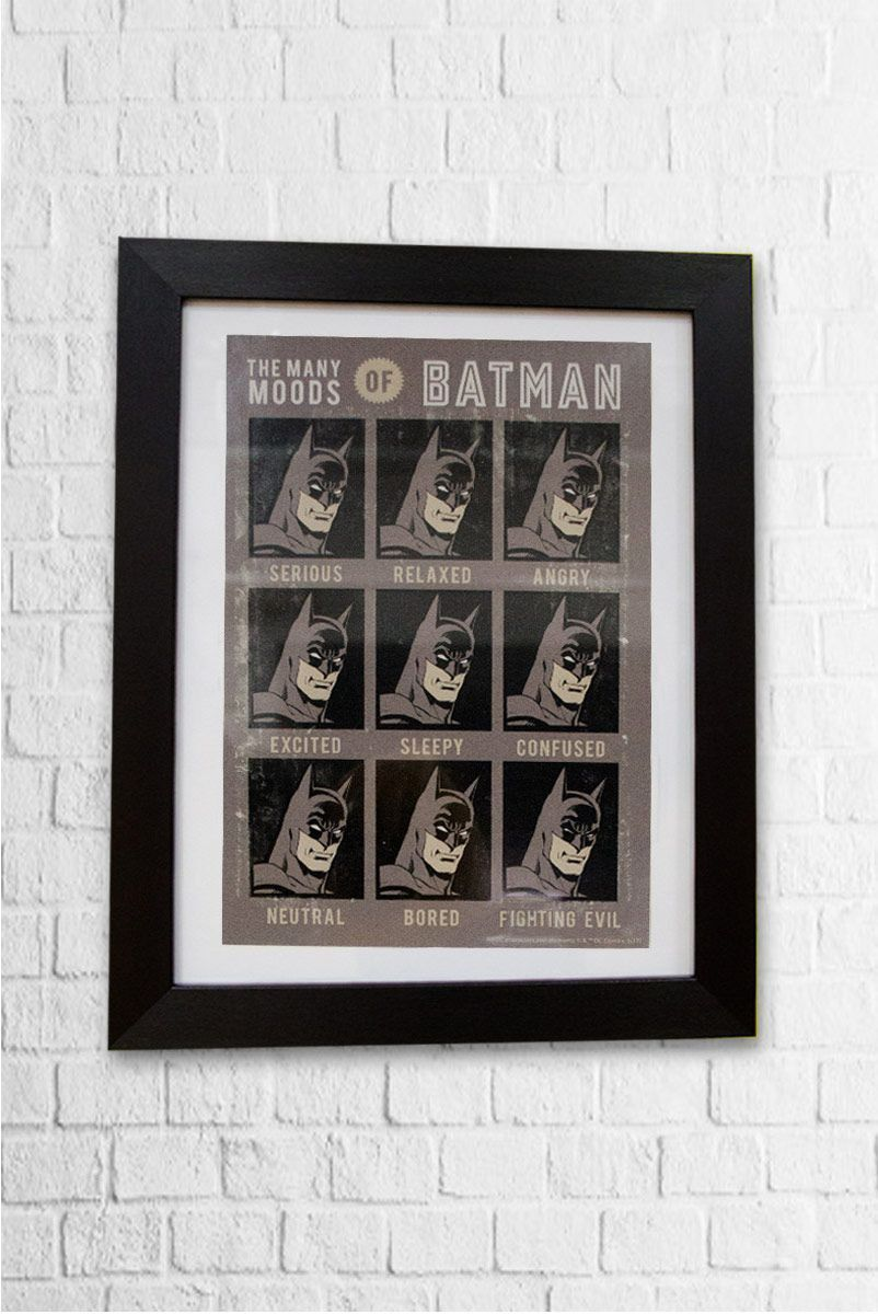 Quadro em MDF Batman The Many Moods