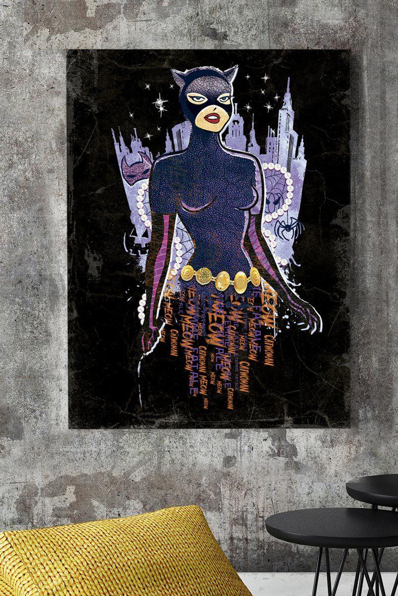 Quadro Catwoman Noite Sombria