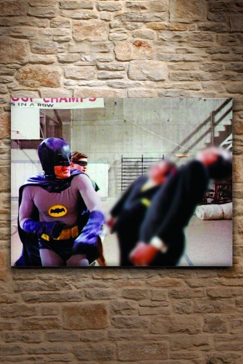 Quadro Tela Batman and Robin Fighting