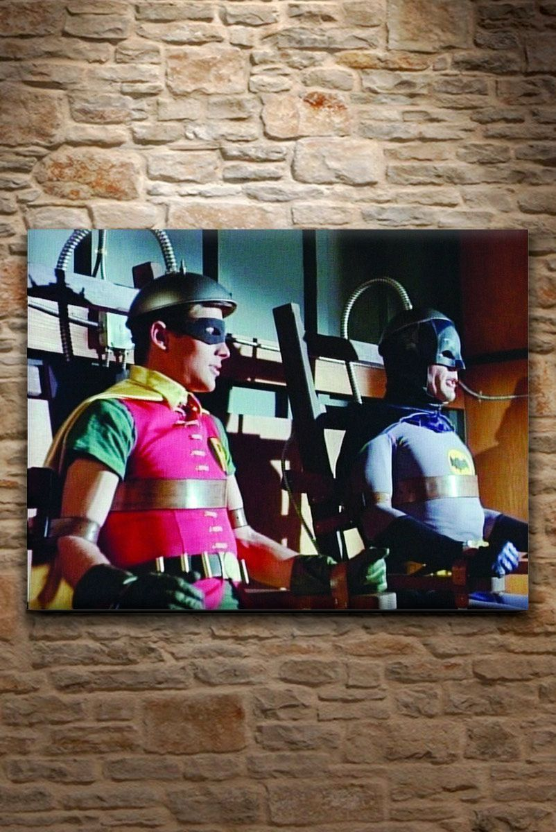 Quadro Tela Batman e Robin In a Machine