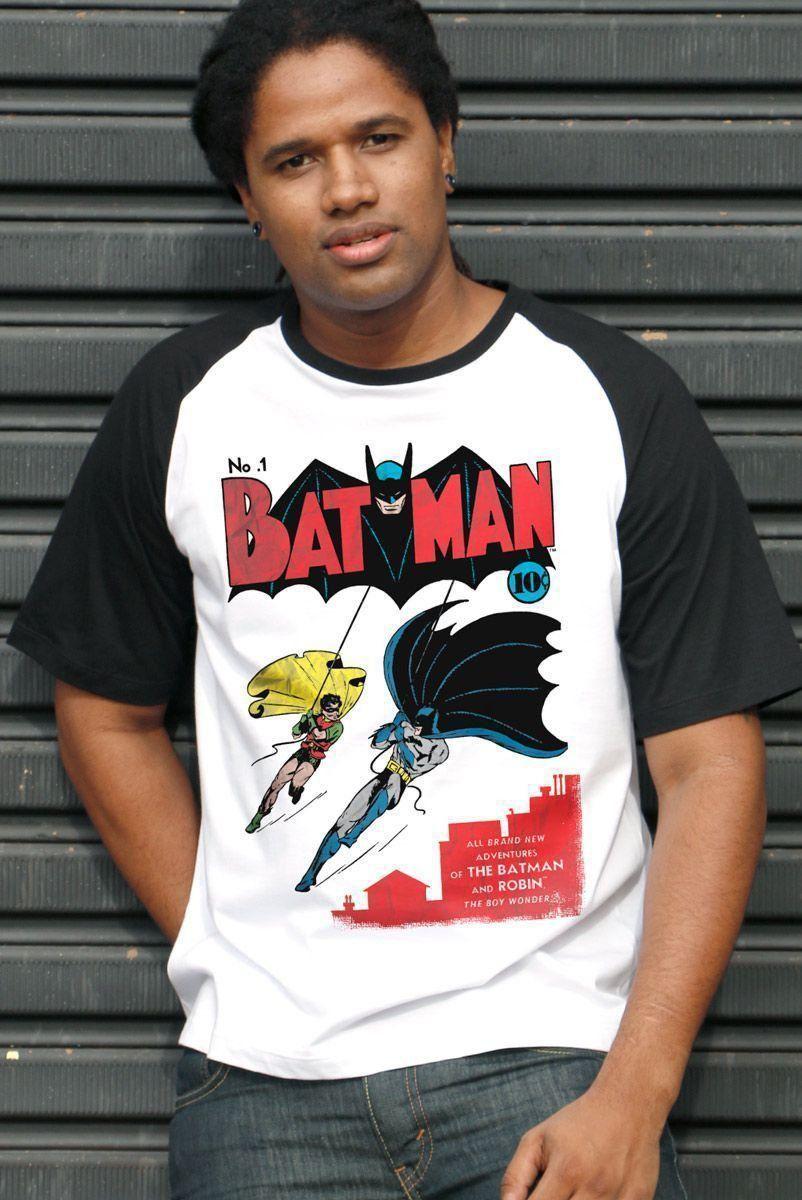 Camiseta Raglan Masculina Batman HQ Nº1