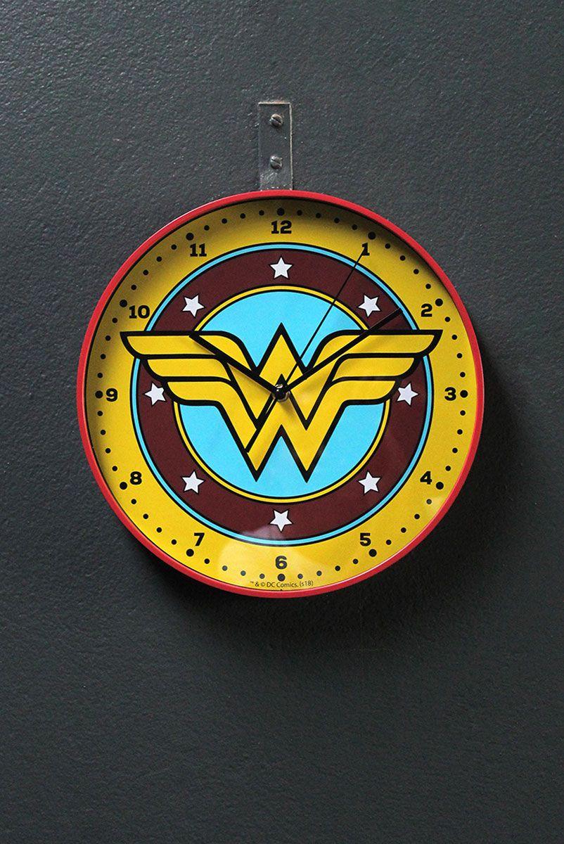 Relógio de Parede Mulher Maravilha Logo