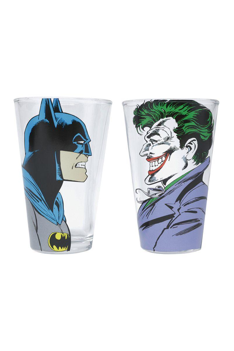 Set 2 Copos DC Origins Batman e Coringa
