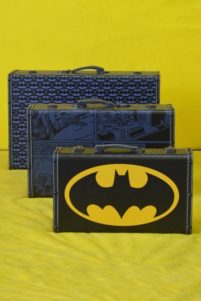 Kit 3 Maletas Batman Logo