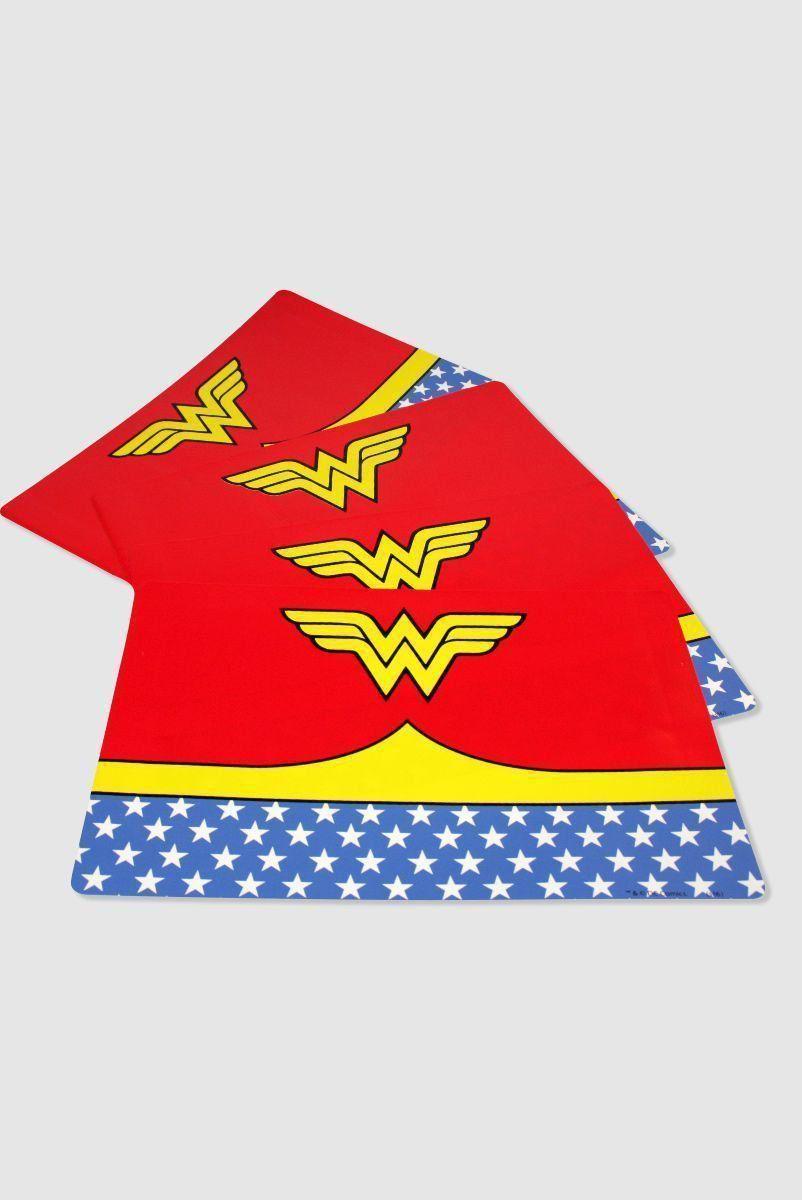Jogo Americano Wonder Woman 4 Placas