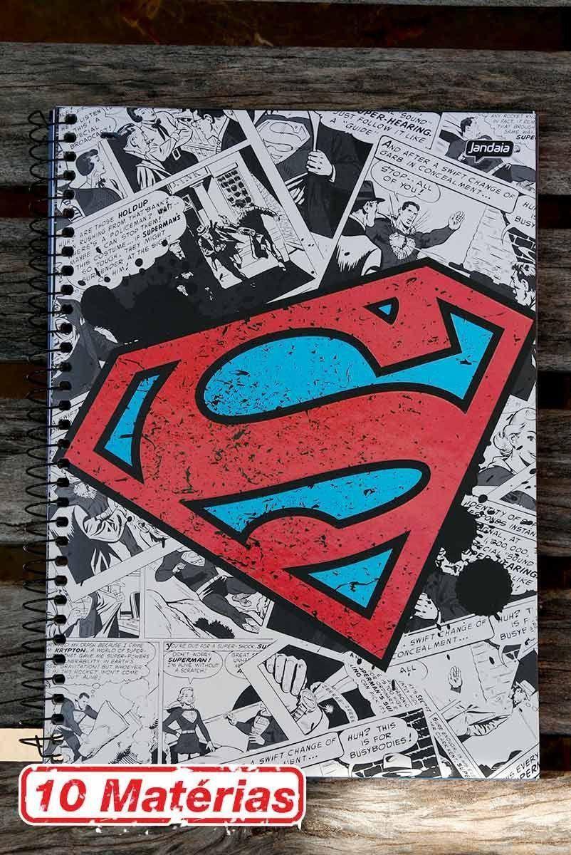 Caderno Superman Logo Retrô 10 Matérias