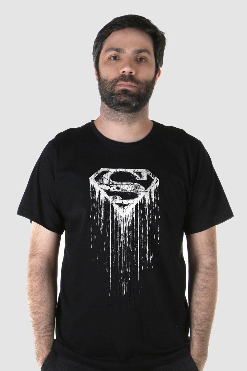 Camiseta Masculina Superman Steel Melting Basic