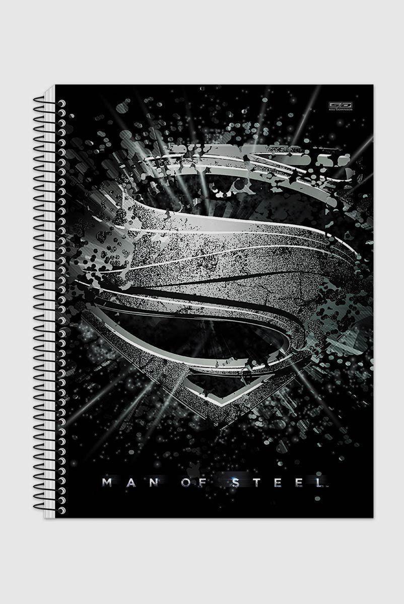 Caderno Superman Man Of Steel Melting Logo 1 Matéria