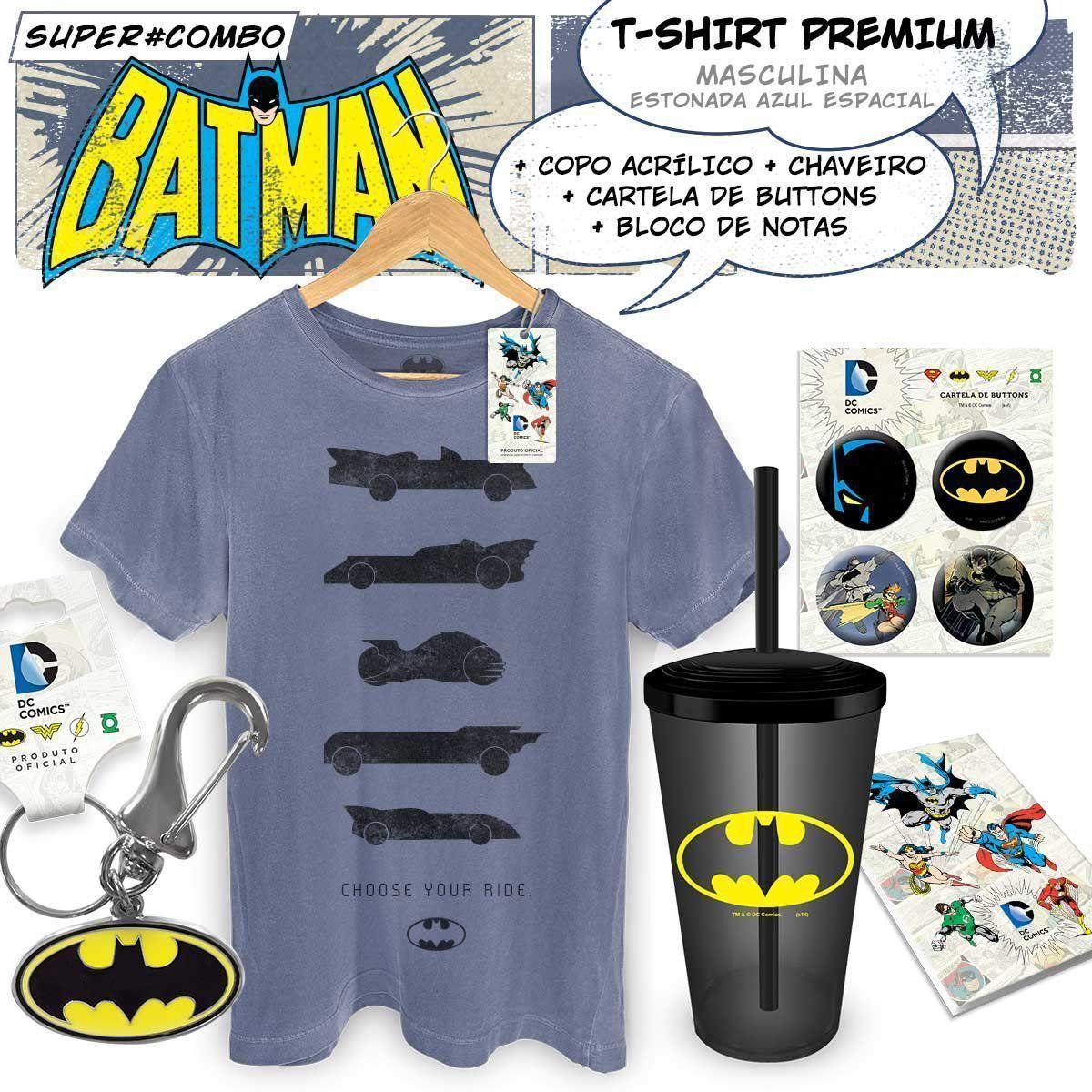 Super Combo Masculino Batman Choose Your Ride