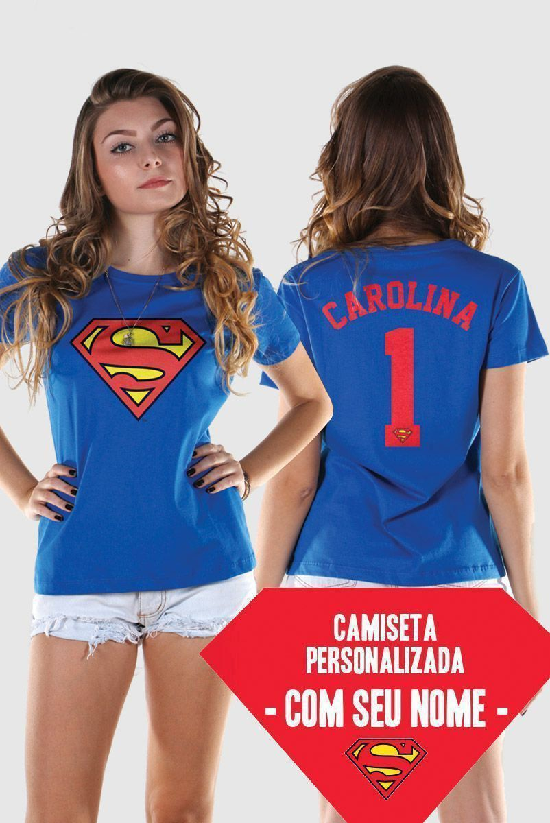 Camiseta Feminina Supergirl Logo Name
