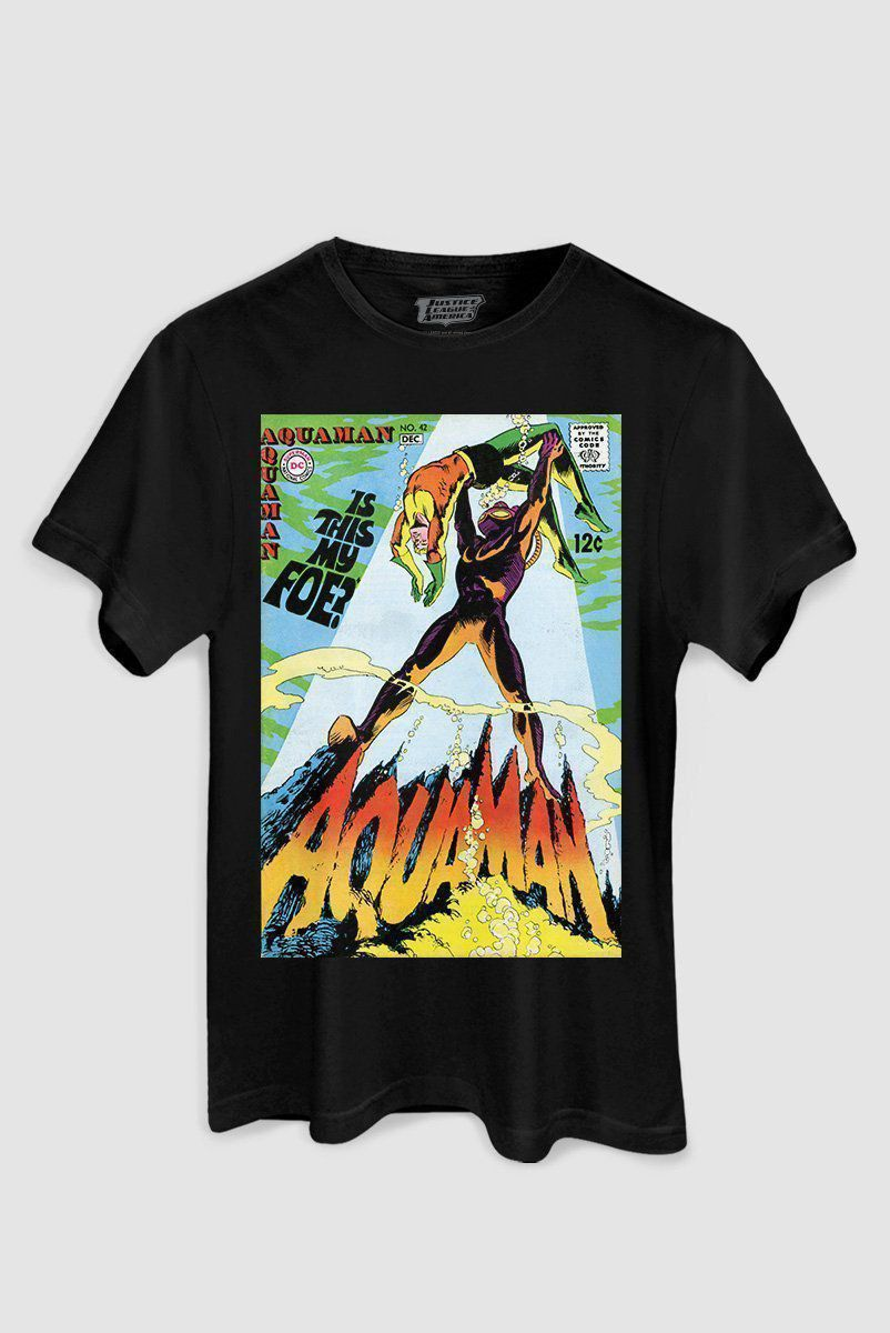 T-shirt Feminina Aquaman e Black Manta Is This My Foe?