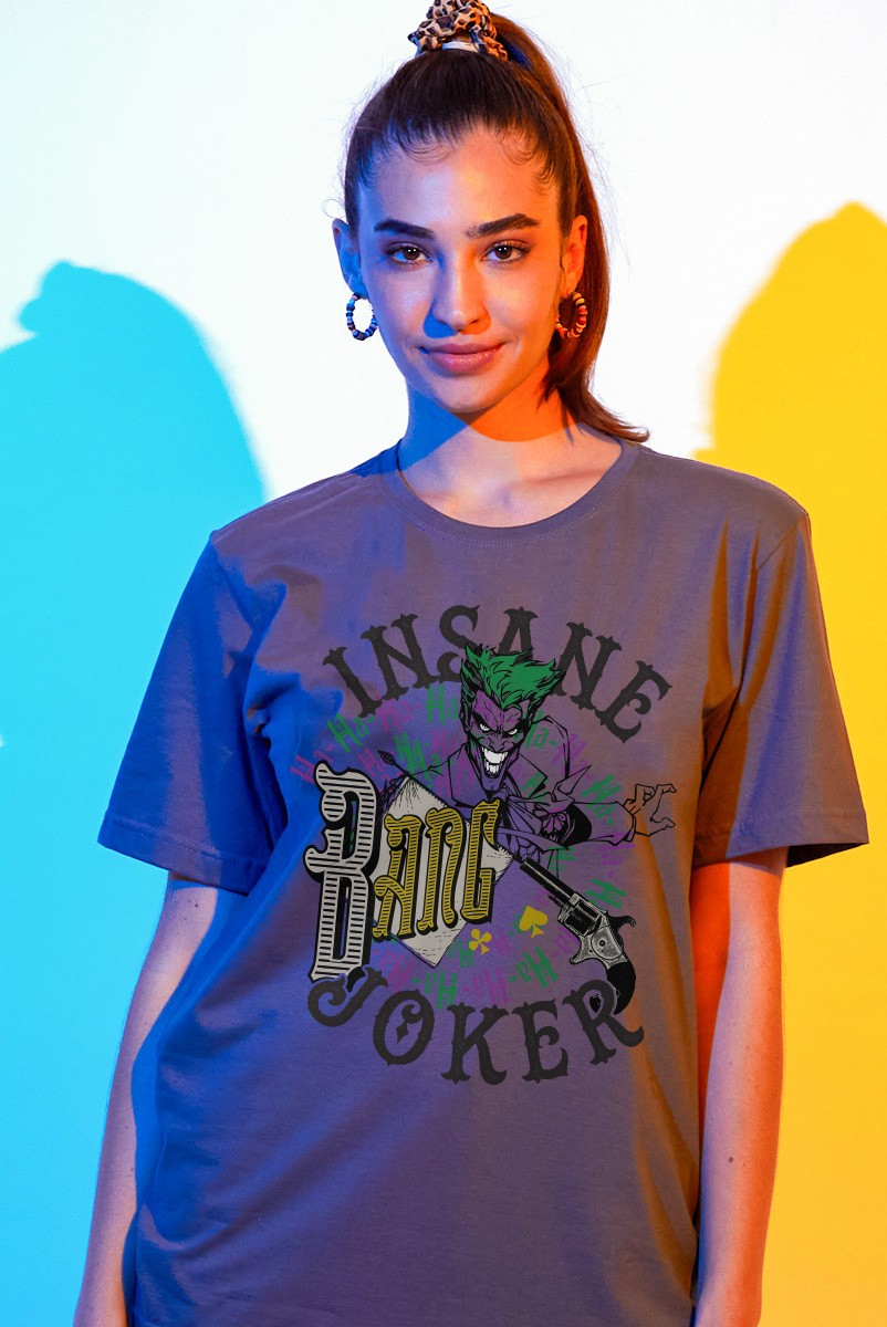 T-shirt Feminina Coringa Insane Bang Joker