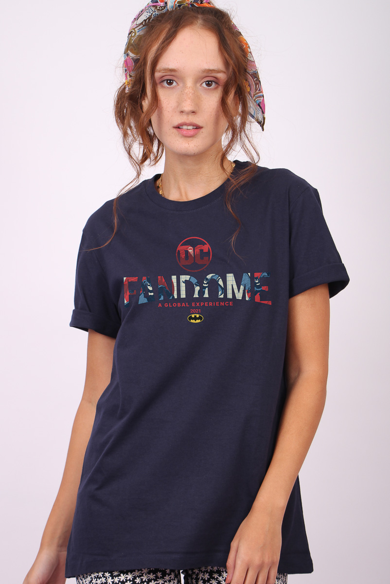 T-shirt Feminina FanDome 2021 Logo Batman