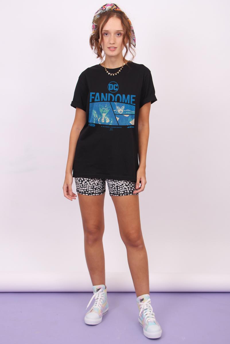 T-shirt Feminina FanDome 2021 Mulher-Gato Blue