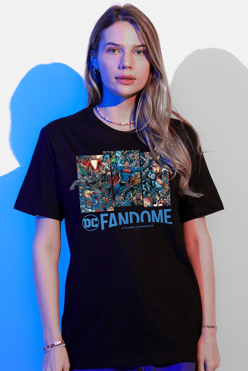 T-shirt Feminina Fandome Jim Lee Liga da Justiça