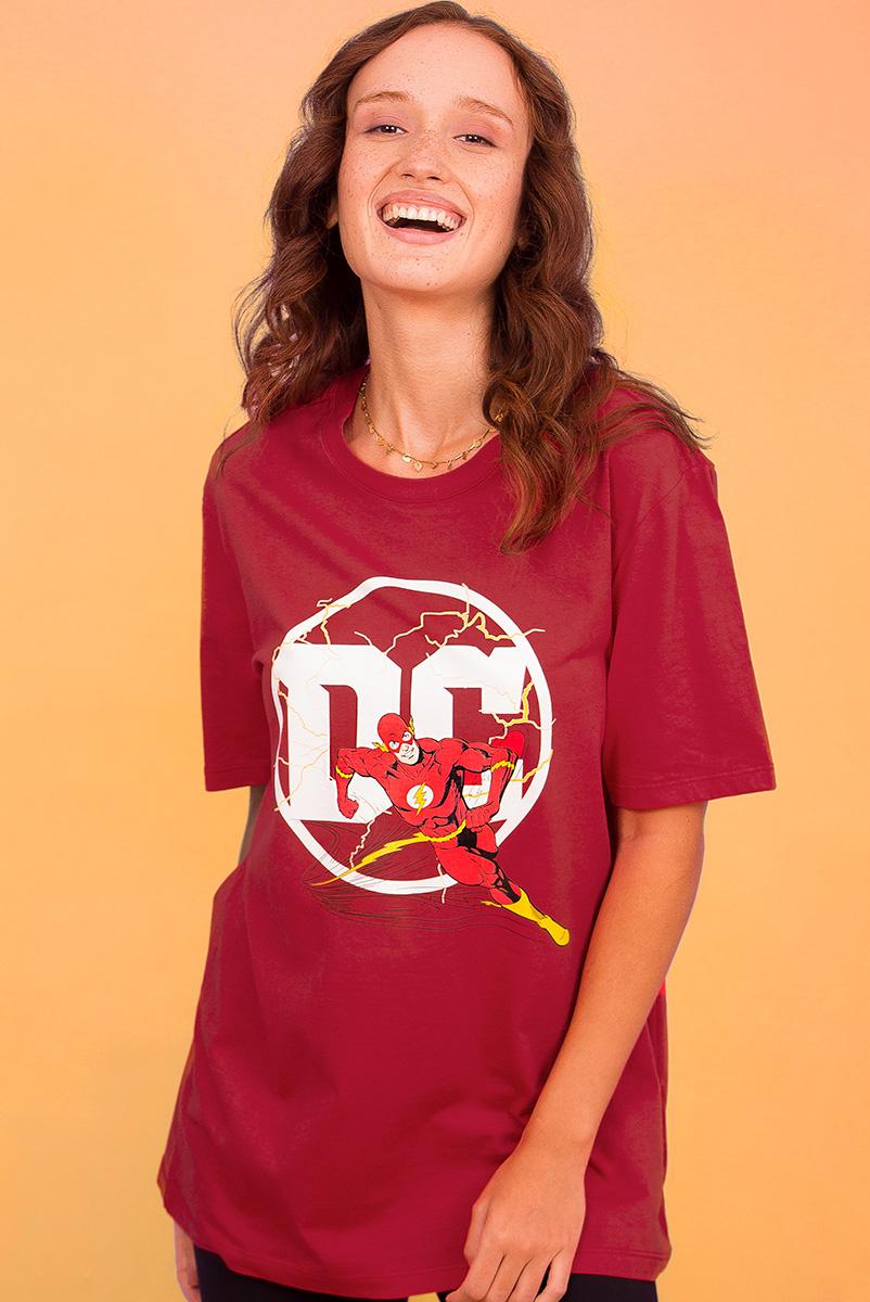 T-shirt Feminina Logo DC Flash