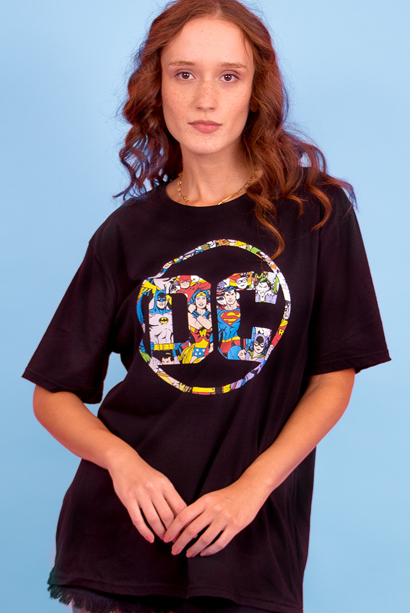 T-shirt Feminina Logo DC Universo