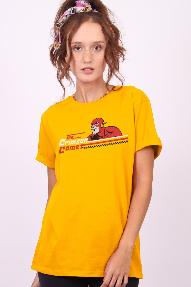 T-shirt Feminina The Flash The Crimson Comet