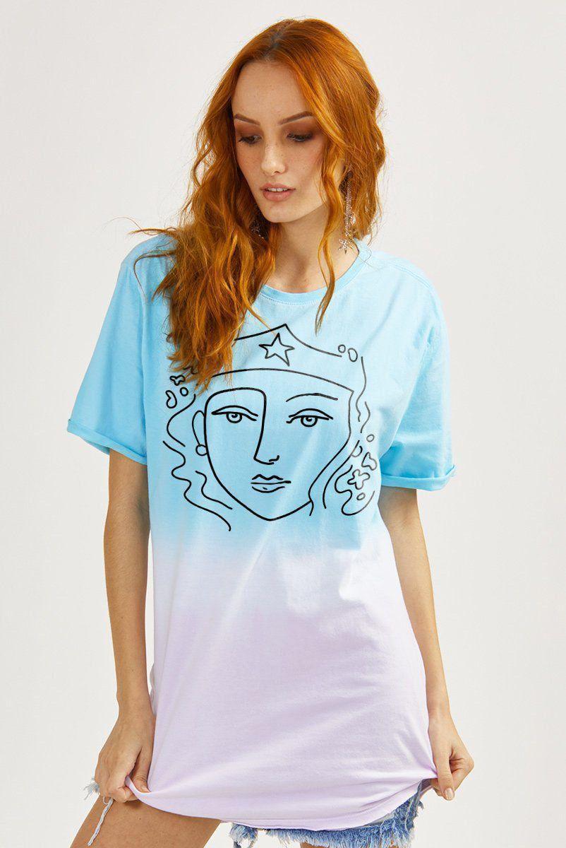 T-shirt Feminina Wonder Woman Esquisse [REPROVADA]