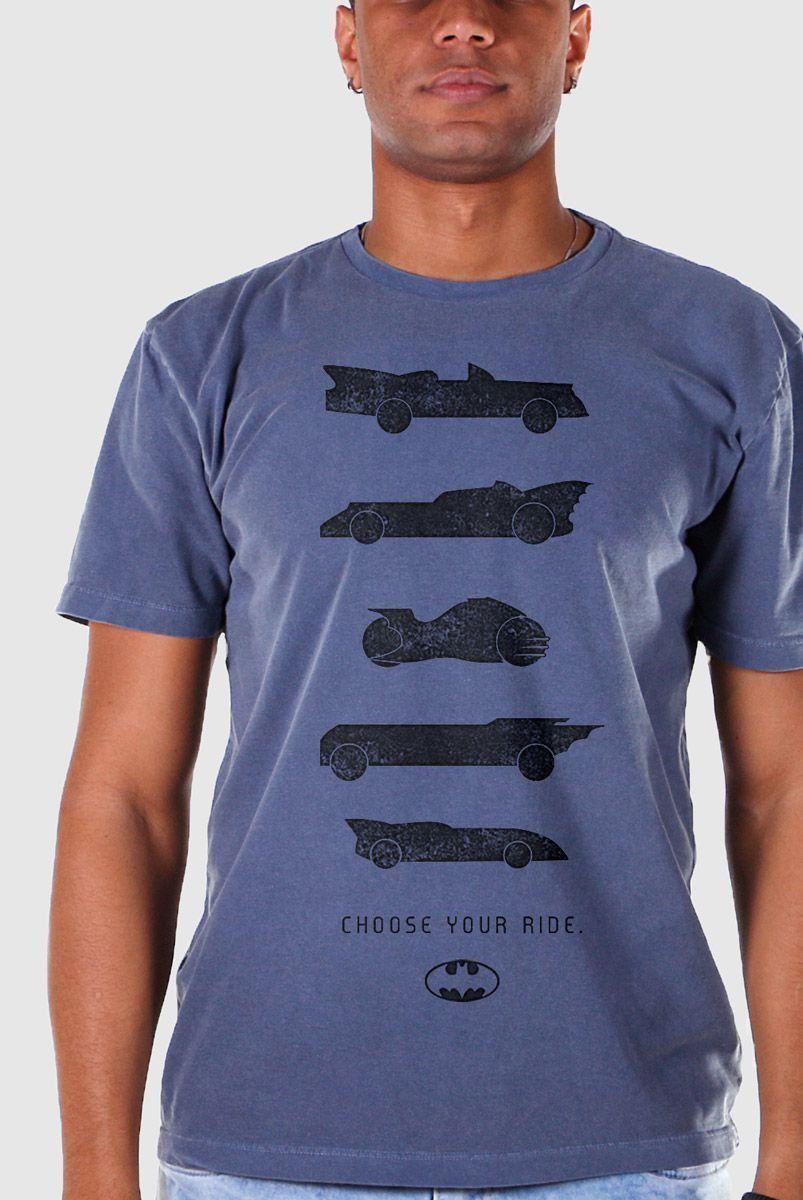 T-shirt Premium Masculina Batman Choose Your Ride