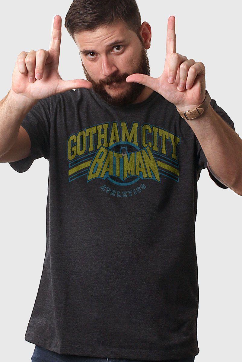 Camiseta Masculina Batman Gotham Logo