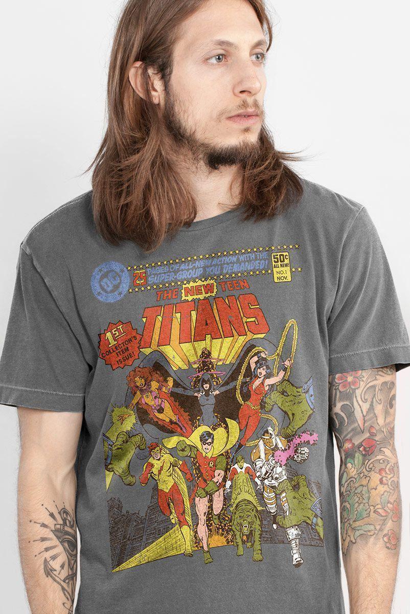 T-shirt Premium Masculina Teen Titans