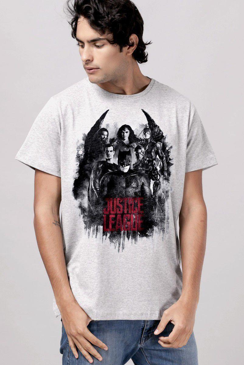 T-shirt Unissex Liga da Justiça Red Heroes