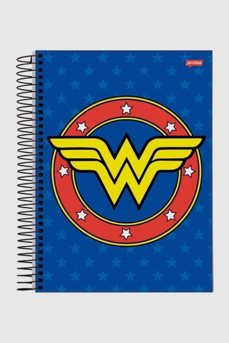 Caderno Wonder Woman Blue Logo 1 Matéria