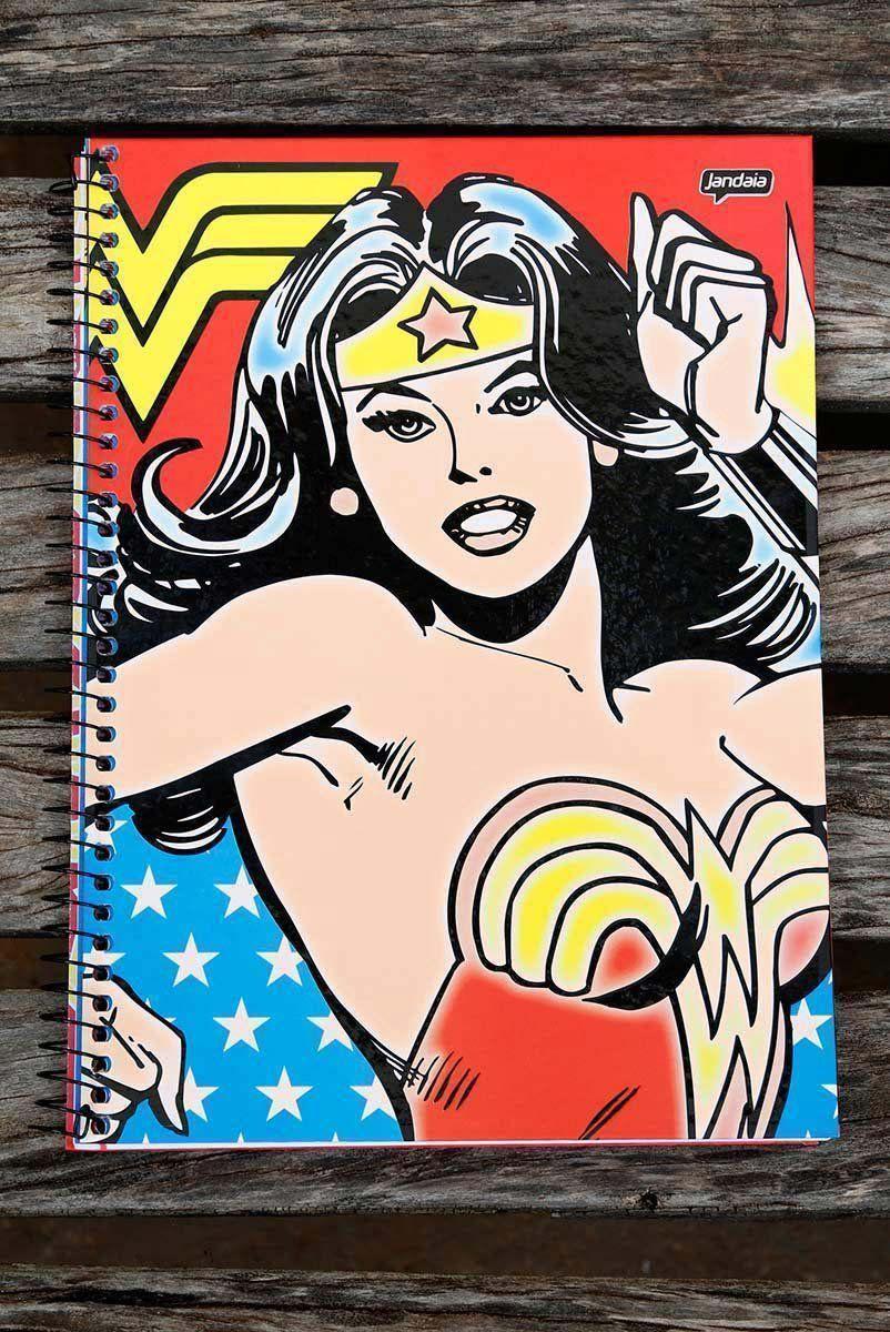 Caderno Mulher Maravilha Retrô 1 Matéria