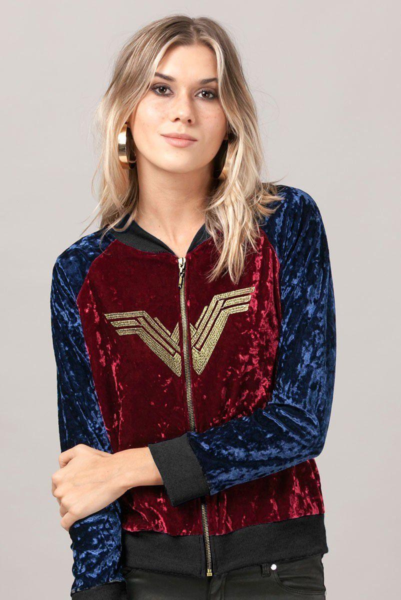 Jaqueta de veludo Mulher Maravilha