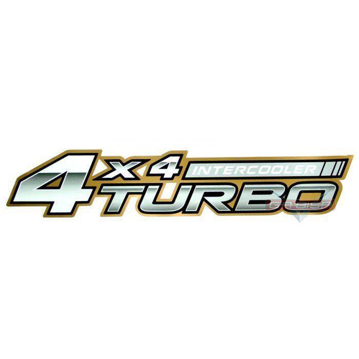 Adesivo Lateral 4x4 Turbo Intercooler P Hilux Srv D 06 Á 08
