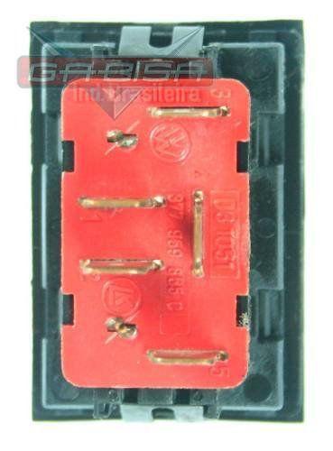 Botão Interruptor De Vidro Elétrico Led Verde 377959855c Vw Gol Parati Saveiro G3 99 00 01 02 03