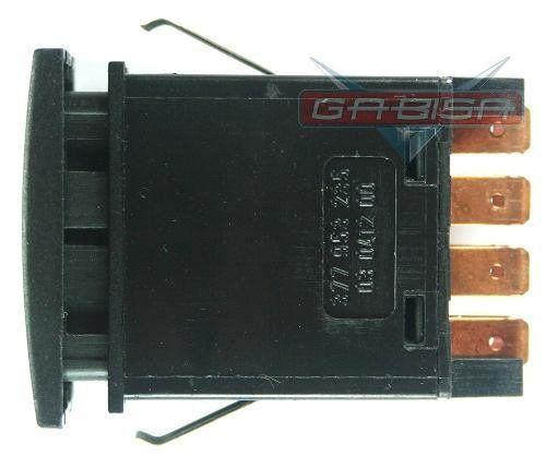 Botão Interruptor De Pisca Alerta Luz de Emergencia do Painel 377953235 Vw Gol Parati Saveiro G3 G4 99 00 01 02 03 04 05 06