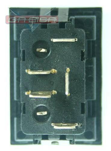 Botão Interruptor De Vidro Elétrico Led Vermelho 377959855b Vw Gol Parati Saveiro G3 99 00 01 02 03
