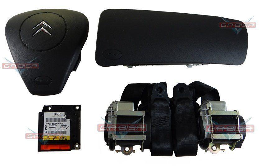Kit Air Bag Bolsas Cintos Modulo do Painel Grafite Citroen C3 01 02 03 04 05 06 07 08 09 010 011